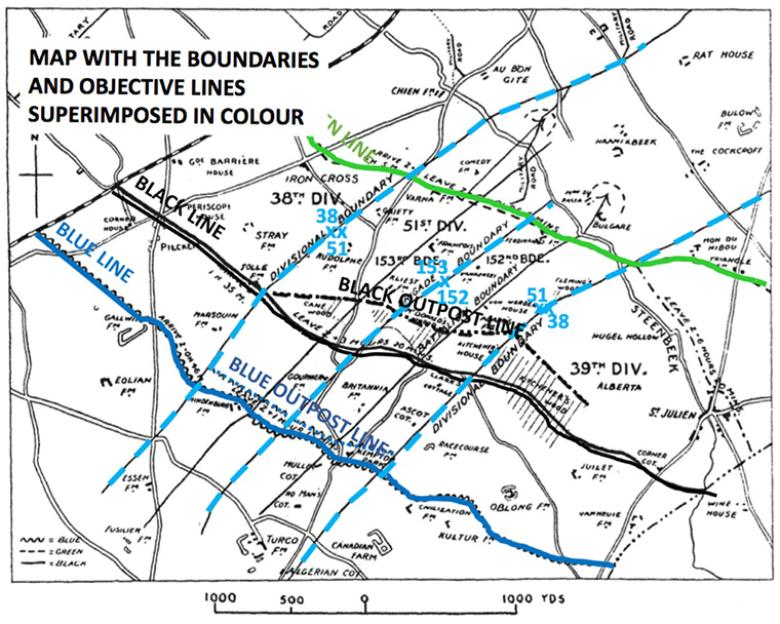 3rd Ypres Attack Plan Colours