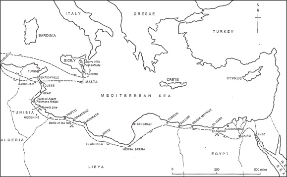Route of North Africa Operations